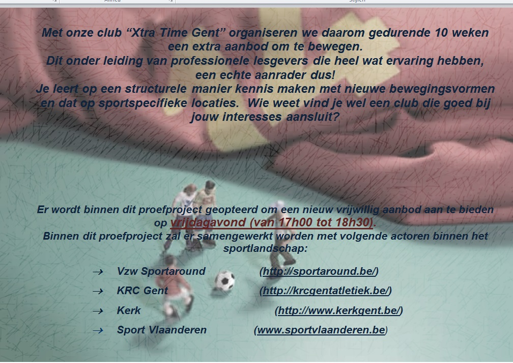 proefproject xtra time aanbod algemeen